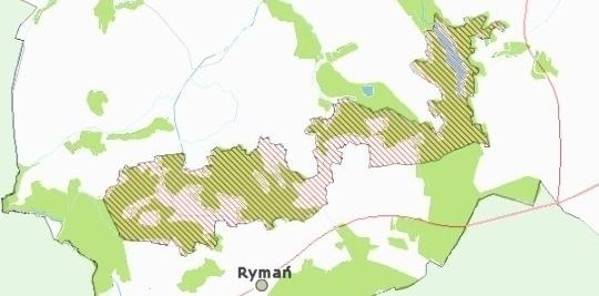 Mapa: Granice obszaru Kemy Rymańskie
